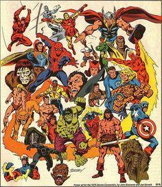 Big John Buscema draws the Marvel Universe, circa 1975.