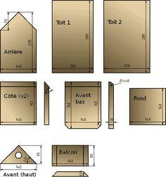 plan nichoir balcon cabane oiseaux pinterest. Black Bedroom Furniture Sets. Home Design Ideas