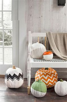 THESE ARE AWESOME. Chevron pumpkins! Photo: Dana Gallagher