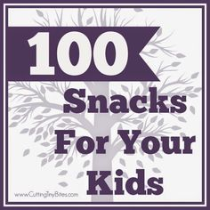 Awesome list of 100 snacks for your kids!  Includes a link to a PDF so you can print and put on your fridge.  Great ideas here!