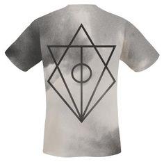 """Classica T-Shirt """"Rusted Nail"""" degli #InFlames con stampa allover di base e stampa sia sulla parte frontale che sul retro."""