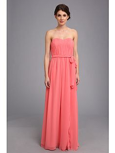 Donna Morgan Sweetheart Long Gown With Slit Dress - $39.99