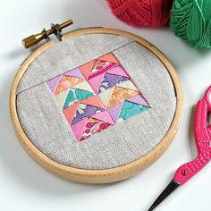 Using colour palettes for mini-patchwork