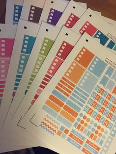 Www.imaginethatbylori.etsy.com stickers cut perfectly to fit your Erin Condren planner. All 12 months inspired by the EC colors