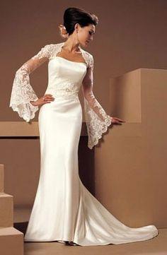 Vestido de noiva com bolero rendado                                                                                                                                                                                 Mais
