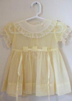 baby girl yellow vintage dress