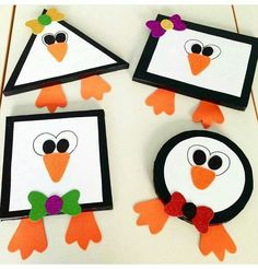 Great Penguin Craft Preschool Designs - Savvy Ways About Things Can Teach UsGranted, the majority of the crafts I found are fun and quick paper cup crafts that are suitable for younger children. Preschool Arts And Crafts, Kindergarten Crafts, Preschool Ideas, Polar Animals Preschool Crafts, Craft Ideas, Winter Crafts For Kids, Art For Kids, Winter Crafts For Preschoolers, Preschool Winter