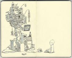 Fantastic sketch book illustrations by Mattias Adolfsson