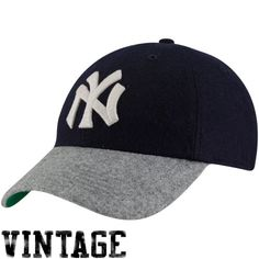 f47f96fdbda  47 Brand New York Yankees Navy Blue-Gray Cooperstown Brooksby Fitted Hat  Yankees Hat