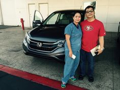 Oscar Delcid, congratulates the Reyes Family, 2015 Honda CR-V LX, this is their 2nd Honda CR-V, thank you, so much for your business and for being a Honda loyal customer, enjoy
