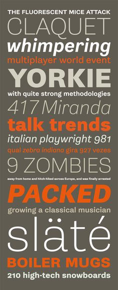 Font, Grotesque, Gira Sans, by Rui Abreu, via Fountain