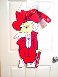 53643f6148f Ole Miss Colonel Reb -  25 Door Decor   Gifts by Southern by Design - Shop  at www.facebook.com Southern by Design or www.SouthernbyDesignCo.etsy.com.