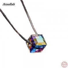 [ 25% OFF ] Ataullah 925 Silver Candy Women Jewelry Necklace & Pendants Sterling Silver Austrian Crystal Pendant Certificate Verify Nwp003
