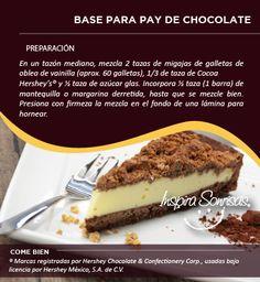 ¡Prepara un pay delicioso! Ésta es una de las claves para lograrlo: #Pay #Chocolate #Recetas #Repostería #DIY #Cook #Bakery