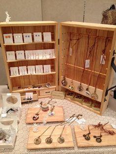 Craft show display of jewelry