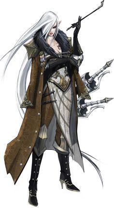 ✧ #characterconcepts ✧ Swordswoman character design