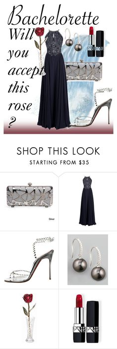 """""""Rachel for the Bachelorette"""" by madcar-2013 ❤ liked on Polyvore featuring Christian Louboutin, Eli, Kevin Jewelers and Christian Dior"""