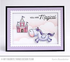 Magical Unicorns, Magical Unicorns, Stitched Cloud Edges Die-namics, Stitched Mini Scallop Rectangle STAX Die-namics, Stitched Rectangle STAX Die-namics - Karin Åkesdotter #mftstamps