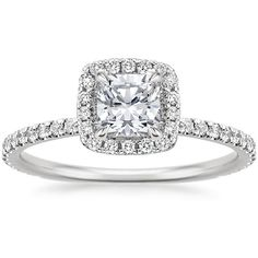 Square Wedding Rings, Square Halo Engagement Rings, Engagement Rings Cushion, Beautiful Engagement Rings, Engagement Ring Styles, Halo Wedding Rings, Engagement Rings White Gold, Square Diamond Rings, Beautiful Rings
