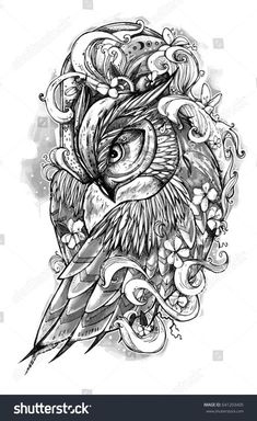 Tattoo Geometric Animal Owls Behance 28 Ideas Best Picture For tattoo hand text For Your Taste You a Skull Rose Tattoos, Body Art Tattoos, New Tattoos, Sleeve Tattoos, Owl Tattoo Drawings, Tattoo Sketches, Tattoo Owl, Owl Tattoo Design, Tattoo Designs