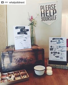 Country Pub Style Tattoo Station - Doris Loves Temporary Tattoo Station in a Box for weddings and events - Styled by What Peggy Did Next