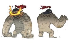 Golem - Characters & Art - Final Fantasy: The 4 Heroes of Light
