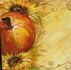 Fall in Love 2acrylic on Canvas Super Fall Sale by RebecaFlottArts
