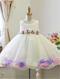 5c0c4dedc4a7 White Wedding Pageant Easter Baby Gift Flower Girls Dress 1 2 3 4 5 6 7 Y