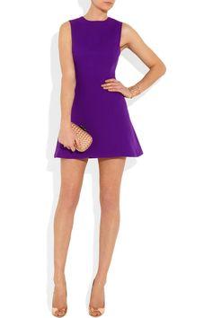 Victoria Beckham Silk and wool-blend mini dress.  In love!!