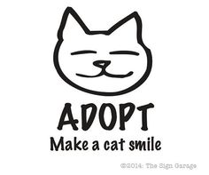 Adopt: Make a Cat Smile Decal -- Choose your color