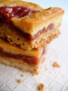 brown butter rhubarb squares