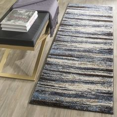 Shop for Safavieh Retro Modern Abstract Cream/ Blue Rug (2'3 x 7'). Get free shipping at Overstock.com - Your Online Home Decor Outlet Store! Get 5% in rewards with Club O!