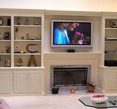 built in bookcases around fireplace - Bing Images | Living room ...