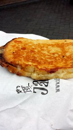 """4 Cheese and caramelised onion toastie """"perfect in every way! Caramelized Onions, Birmingham, Cheese, News, Breakfast, Ethnic Recipes, Food, Carmelized Onions, Meal"""