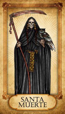 Santa Muerte Prayer Card by TheVodouStore on Etsy, $2.50