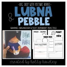Lubna and Pebble Text Dependent Book Study Activities by Holly Hawley Text Dependent Questions, Magic Treehouse, Book Study, Compare And Contrast, Graphic Organizers, Cover Pages, Read Aloud, Small Groups, Second Grade