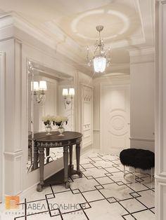 Фото интерьер прихожей из проекта «Дизайн трехкомнатной квартиры 100 кв.м. в стиле неоклассики, ЖК «Смольный парк»»