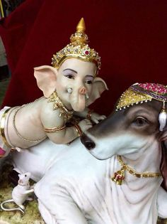 Ganesh, Nandi and rat