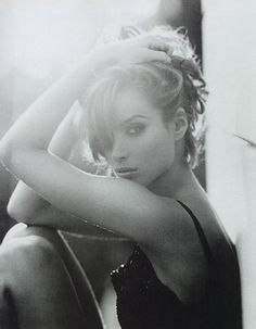 Christy Turlington   in my humble opinion, THE most beautiful of all the super-models