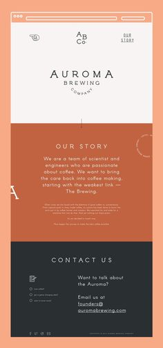 Auroma Brewing Company Website