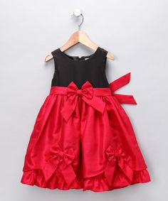 Take a look at this Red Bow Dress & Diaper Cover - Infant by Nannette on #zulily today!
