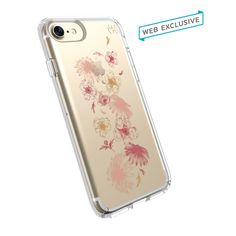 PRESIDIO CLEAR + PRINT IPHONE 7 CASE-FLOWER FALL RED