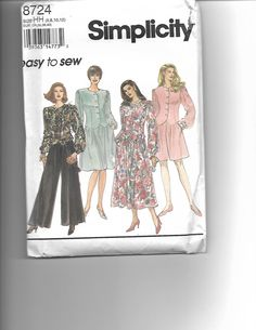 Simplicity 8724 by CraftingMoose on Etsy