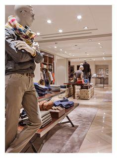 Massimo Dutti Flagship Store. Serrano 48, Madrid - Basement floor, Men's Collection.