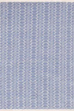 Dash & Albert Woven Cotton Rug Blue FairIsle