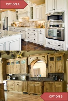 Which of these kitchen cabinets do you like better, A or B?
