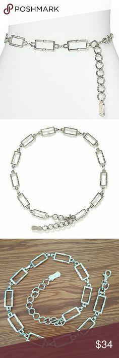 Michael Kors Chain Belt EUC Silver-tone rectangular adjustable chain belt by Michael Kors. In like new condition. Only worn a few times. Michael Kors Accessories Belts