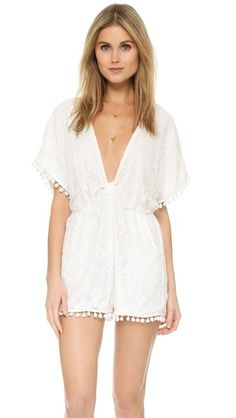 6 Shore Road by Pooja La Paz Lace Romper @shopbop #6shoreroadbypooja #beachtobar