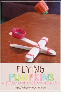 Check out this fun force and motion activity with a freebie for Halloween, where students learn the relationship between force, speed, and distance! crafts Flying Pumpkins: A Force and Motion Activity Kid Science, Preschool Science, Science Experiments, Science Classroom, Science Games, Forensic Science, Stem Science, Science Books, Science Education