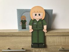 Excited to share this item from my #etsy shop: Blonde haired NHS paramedic, birthday card, mum, sister, daughter, cousin, auntie, friend, 3d on the shelf card and envelope, female Handmade Envelopes, Folded Up, Auntie, Cousins, All Design, New Baby Products, Birthday Cards, Shelf, Sisters